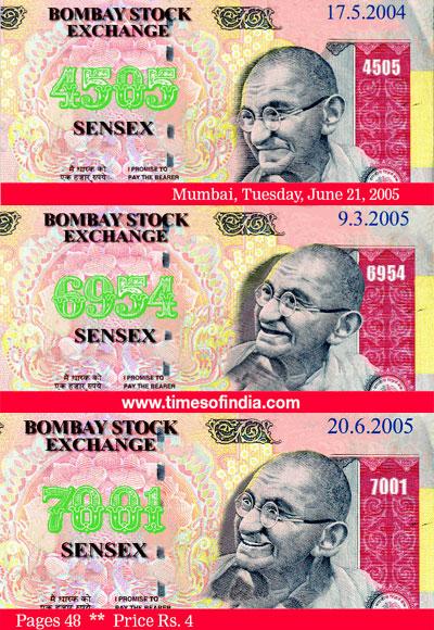 BSE Sensex crosses 7000