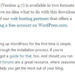 Automatic Update to WordPress 4.7 Error